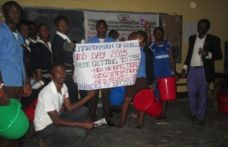 IVFCam commemorates World Aids Day 2015 at Progressive Comprehensive High School (PCHS) Bamenda